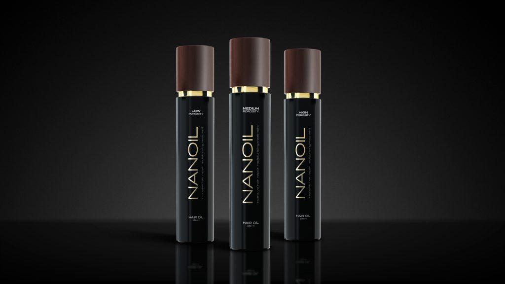 Effekten af olier i Nanoil hårprodukter